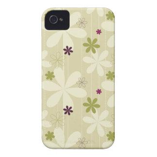 Retro Floral Background iPhone 4 Case