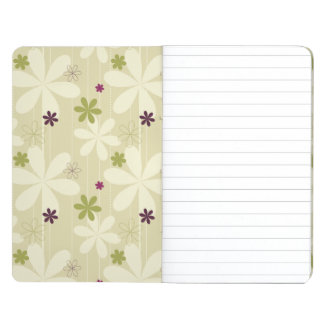 Retro Floral Background Journal