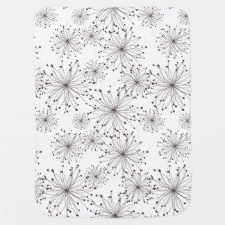 Retro floral background receiving blankets