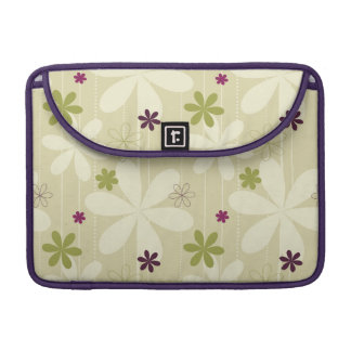 Retro Floral Background Sleeve For MacBooks