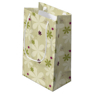 Retro Floral Background Small Gift Bag