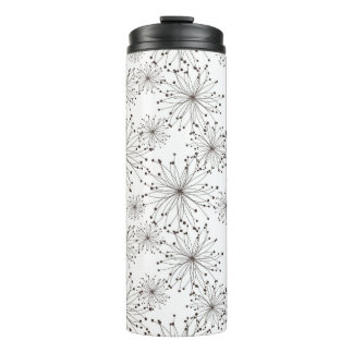 Retro floral background thermal tumbler