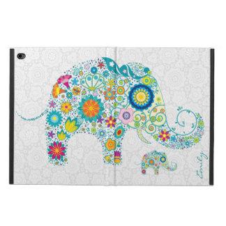Retro Floral Elephant White Damasks Monogram 2 Powis iPad Air 2 Case