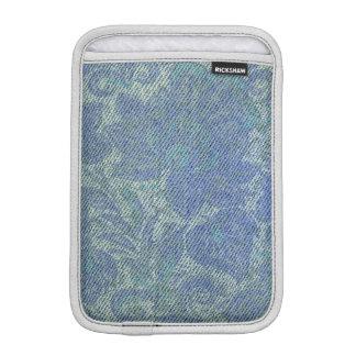 Retro Floral Flower Denim Texture Sleeve For iPad Mini