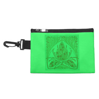 Retro Floral Leaf Neon Green Bagettes Bag Accessory Bags