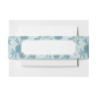Retro Floral Pattern 2 2 Invitation Belly Band