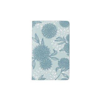 Retro Floral Pattern 2 2 Pocket Moleskine Notebook