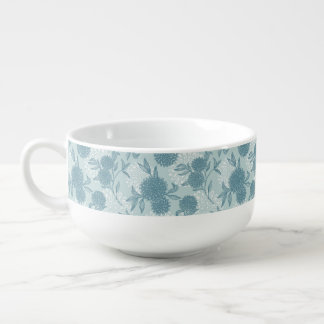Retro Floral Pattern 2 2 Soup Bowl With Handle