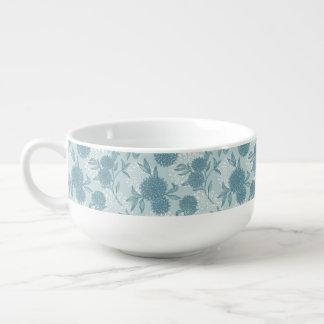 Retro Floral Pattern 2 2 Soup Mug