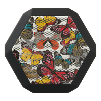 Retro floral pattern 2 black bluetooth speaker