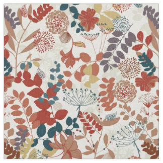 Retro floral pattern 2 fabric