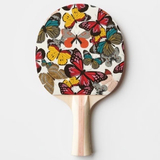 Retro floral pattern 2 ping pong paddle