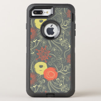 Retro floral pattern 3 OtterBox defender iPhone 8 plus/7 plus case