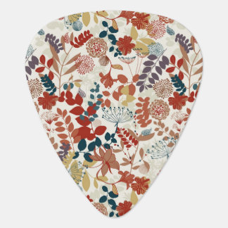 Retro floral pattern 5 plectrum