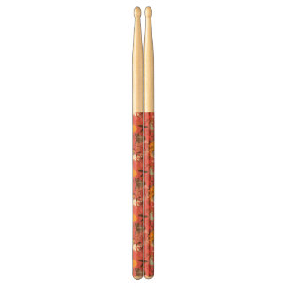 Retro floral pattern 7 drumsticks