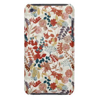Retro floral pattern barely there iPod cover