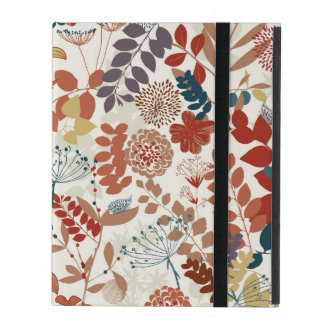 Retro floral pattern iPad cover