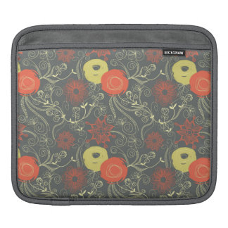 Retro floral pattern iPad sleeve