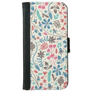 Retro Floral Pattern iPhone 6 Wallet Case