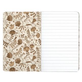 Retro floral pattern journal