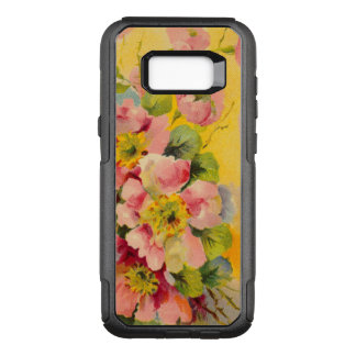 Retro Floral Pattern OtterBox Commuter Samsung Galaxy S8+ Case