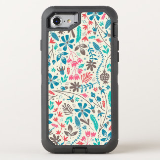 Retro Floral Pattern OtterBox Defender iPhone 8/7 Case