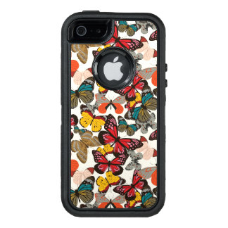 Retro floral pattern OtterBox defender iPhone case