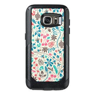 Retro Floral Pattern Samsung Galaxy S7 Case
