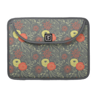 Retro floral pattern sleeve for MacBook pro