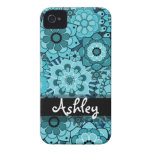 Retro Floral Pattern with Name Case-Mate iPhone 4 Case