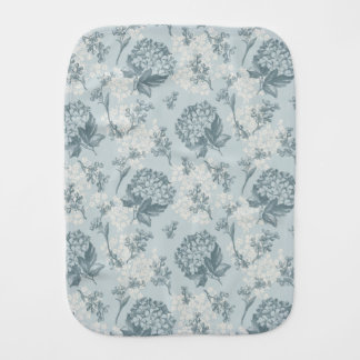 Retro floral pattern with viburnum flowers burp cloth