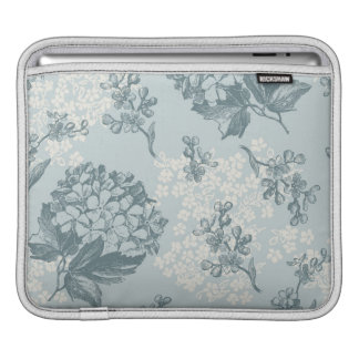Retro floral pattern with viburnum flowers iPad sleeve