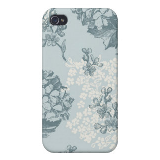 Retro floral pattern with viburnum flowers iPhone 4 cases