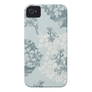Retro floral pattern with viburnum flowers iPhone 4 cover