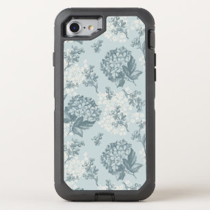Retro floral pattern with viburnum flowers OtterBox defender iPhone 8/7 case