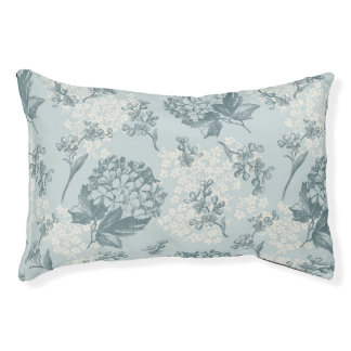 Retro floral pattern with viburnum flowers pet bed