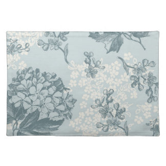 Retro floral pattern with viburnum flowers placemat
