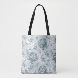Retro floral pattern with viburnum flowers tote bag