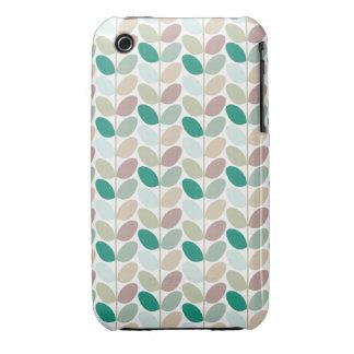 Retro Floral Patterned Case iPhone 3 Case