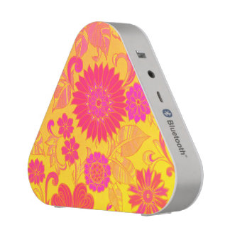 Retro Floral Pink and Yellow
