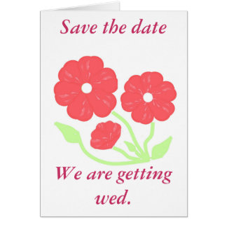 Retro Floral Pink Wedding Stationary Cards