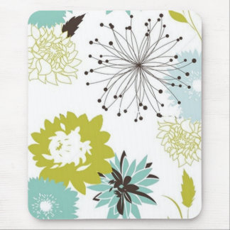 Retro Floral Seamless Mouse Pad