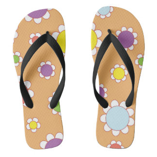Retro Floral summer Flip flops