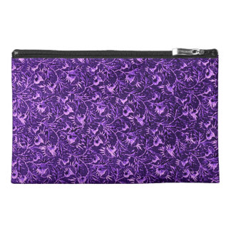 Retro Floral Vintage Flowers Amethyst Purple Travel Accessories Bag