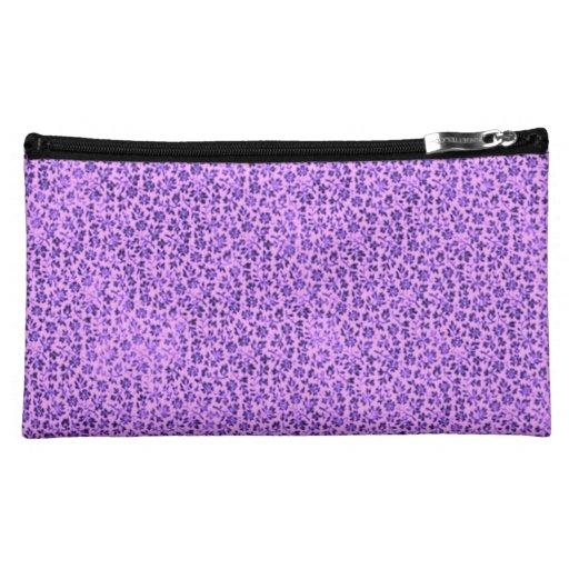 Retro Floral Vintage Flowers Lavender Purple Makeup Bag