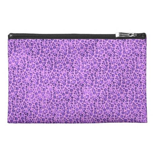 Retro Floral Vintage Flowers Lavender Purple Travel Accessory Bag