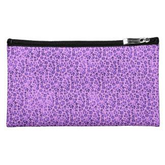 Retro Floral Vintage Flowers Lavender Purple Cosmetics Bags