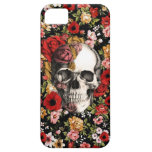 Retro florals with skull pattern iPhone 5 cases