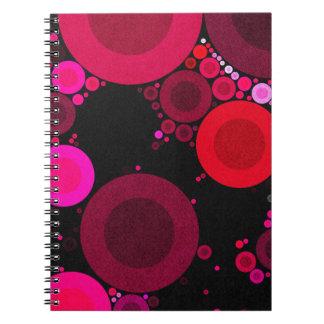 Retro Florescent Polk-Dot Pattern Note Book