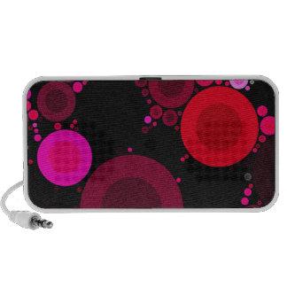 Retro Florescent Polk-Dot Pattern Portable Speakers